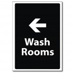 Wash Rooms Left - A5