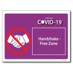 Handshake Free Zone - A4