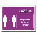 Keep Social Distance 1m - A4