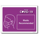 Masks Recommended - A4