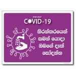 Wash Your Hands - Sinhala