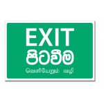 Exit - 12x8.5(inch)