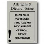 Allergens  & Dietary Notice