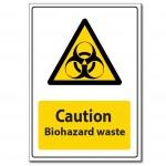 Caution Biohazard Waste - A5