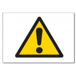 Caution -  5.85x5.85(inch)