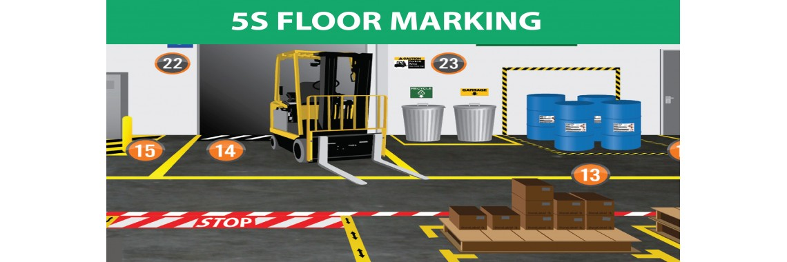 5s floor markings