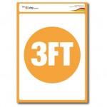 3FT Floor Marking  Sticker - A4