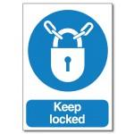 Keep locked Sign - A6
