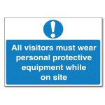 All Visitors Must Sign - A4