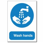 Wash Hands Sign - A6