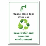Save Water (English) - A5