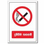 No Smoking (Sinhala) - A5