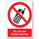 Do Not Use Mobile Phones - A5